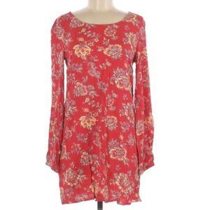 BILLABONG RED FLORAL DRESS